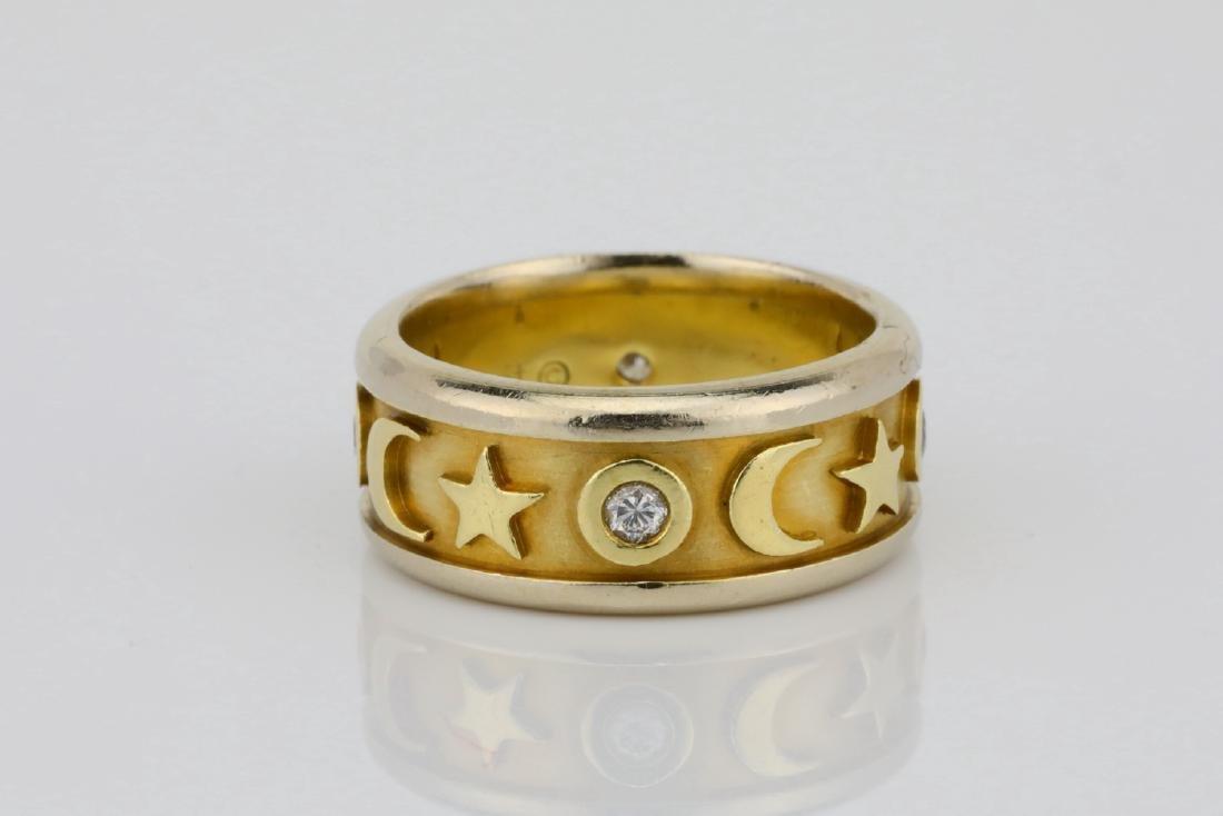K Orbit Designer 0.20ctw Diamond & 14K Ring