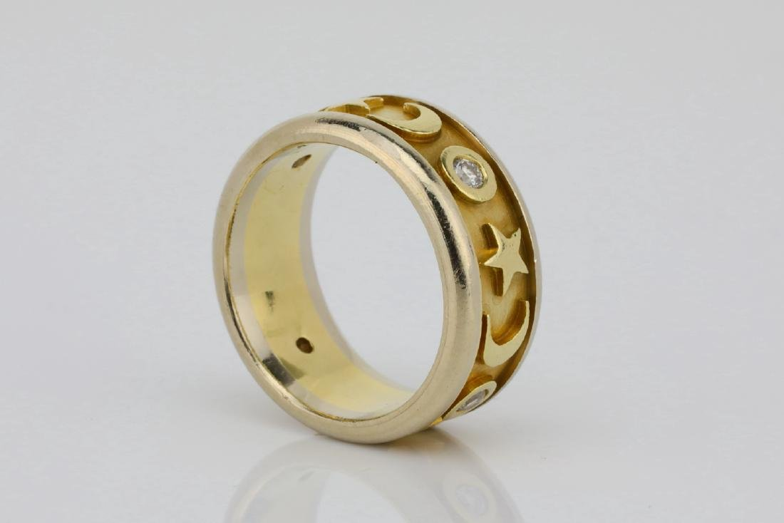 K Orbit Designer 0.20ctw Diamond & 14K Ring - 3