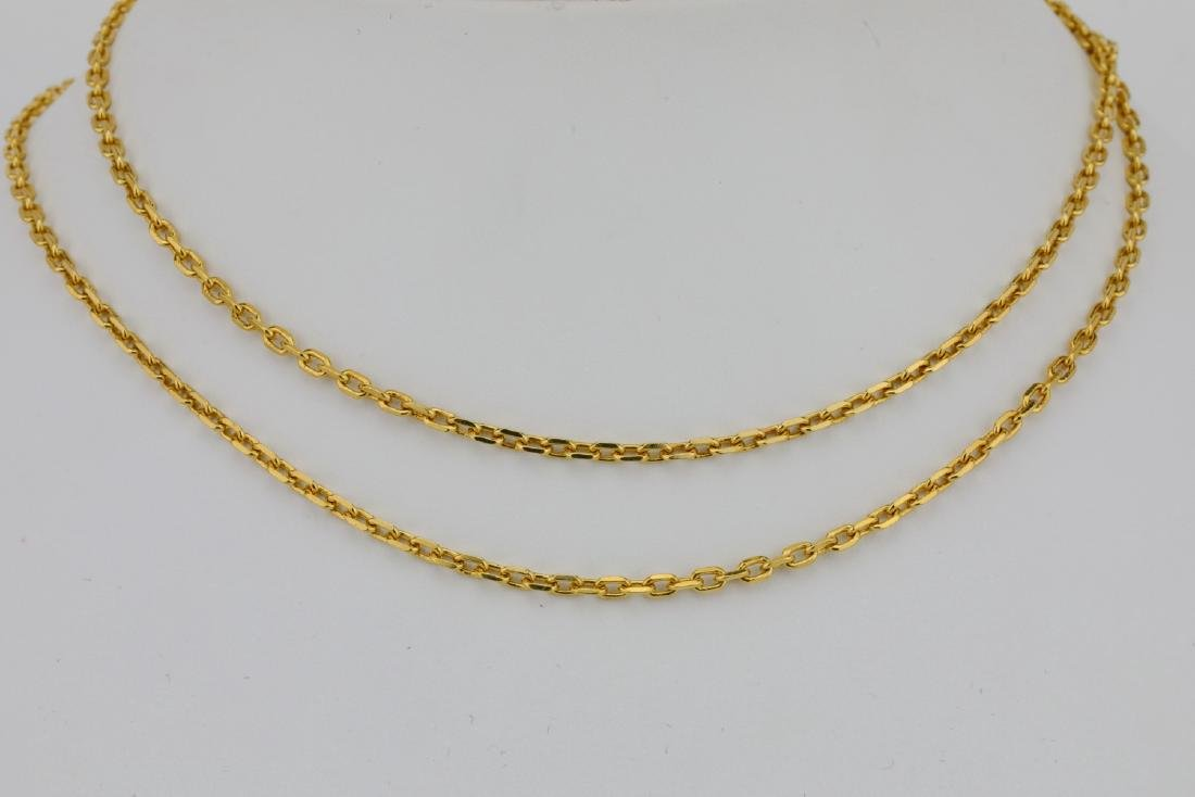 "Solid 18K Yellow Gold 24"" Link Chain"