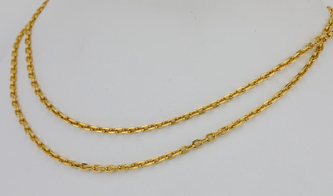 "Solid 18K Yellow Gold 24"" Link Chain - 2"