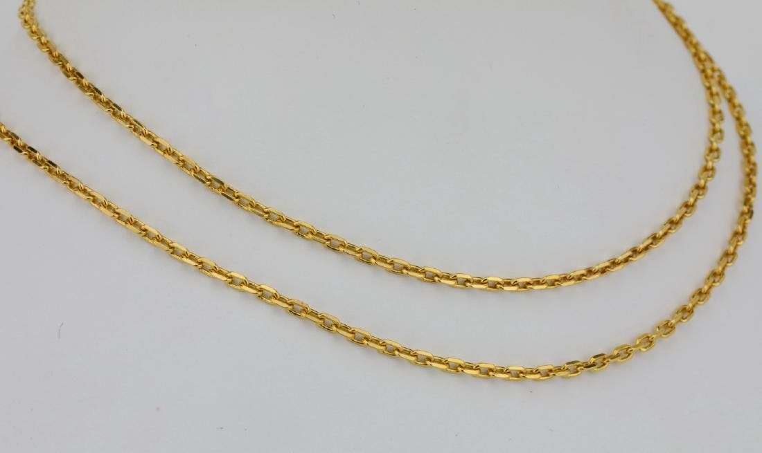 "Solid 18K Yellow Gold 24"" Link Chain - 3"