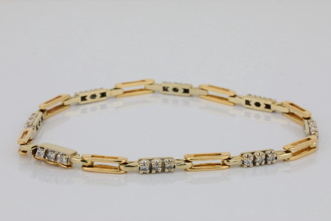 "14K & 0.75ctw SI1-SI2/G-H Diamond 7.25"" Bracelet"