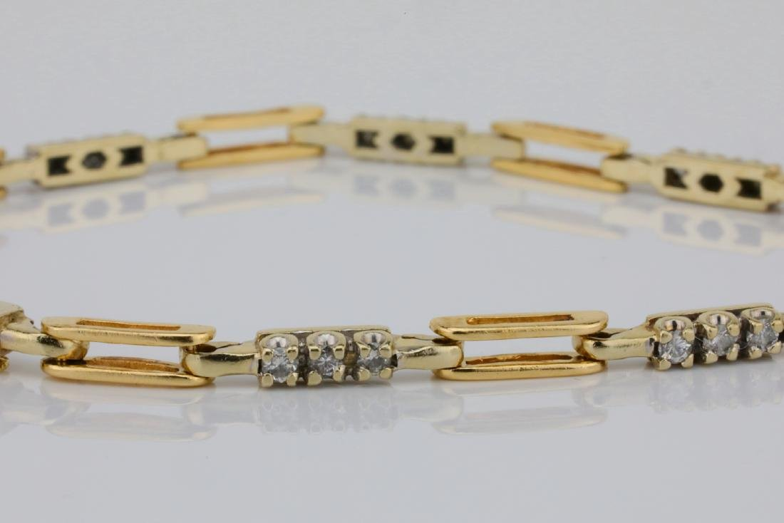 "14K & 0.75ctw SI1-SI2/G-H Diamond 7.25"" Bracelet - 2"