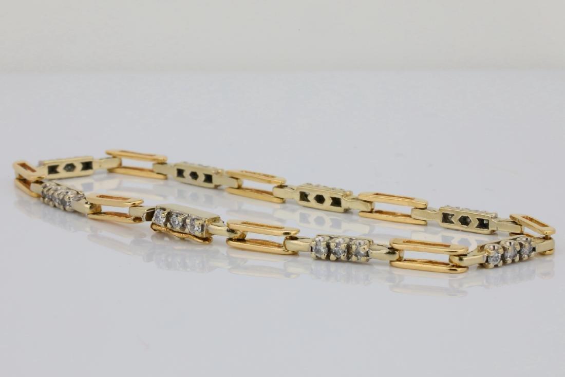 "14K & 0.75ctw SI1-SI2/G-H Diamond 7.25"" Bracelet - 3"