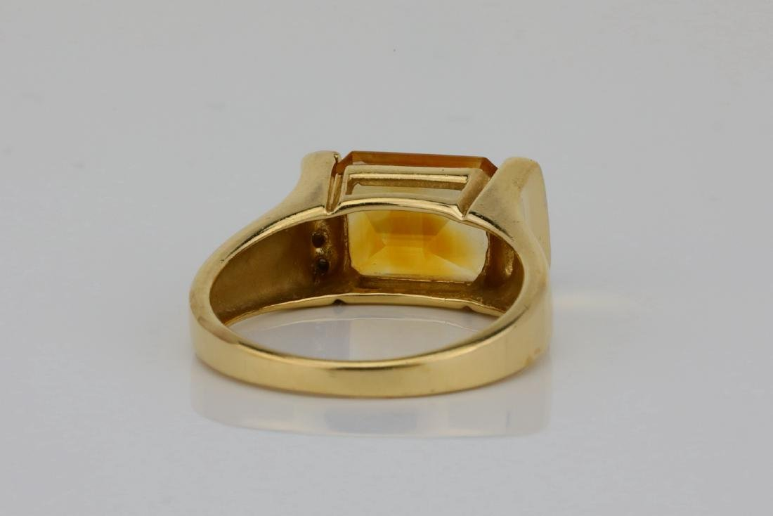 3.50ct Citrine & 14K Ring W/Diamond Accents - 4
