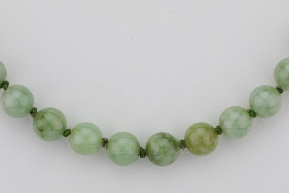 "7mm-8mm Jade Bead 22.5"" Necklace W/14K Clasp - 2"
