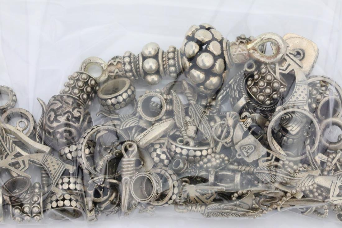 Mixed Lot of Sterling Silver Beads (223.2 Grams) - 2