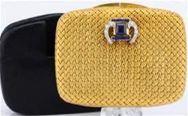 Van Cleef Blue Sapphire & Diamond 18K Compact