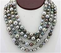 9145mm South Sea Pearl Necklace WDiamond Clasp