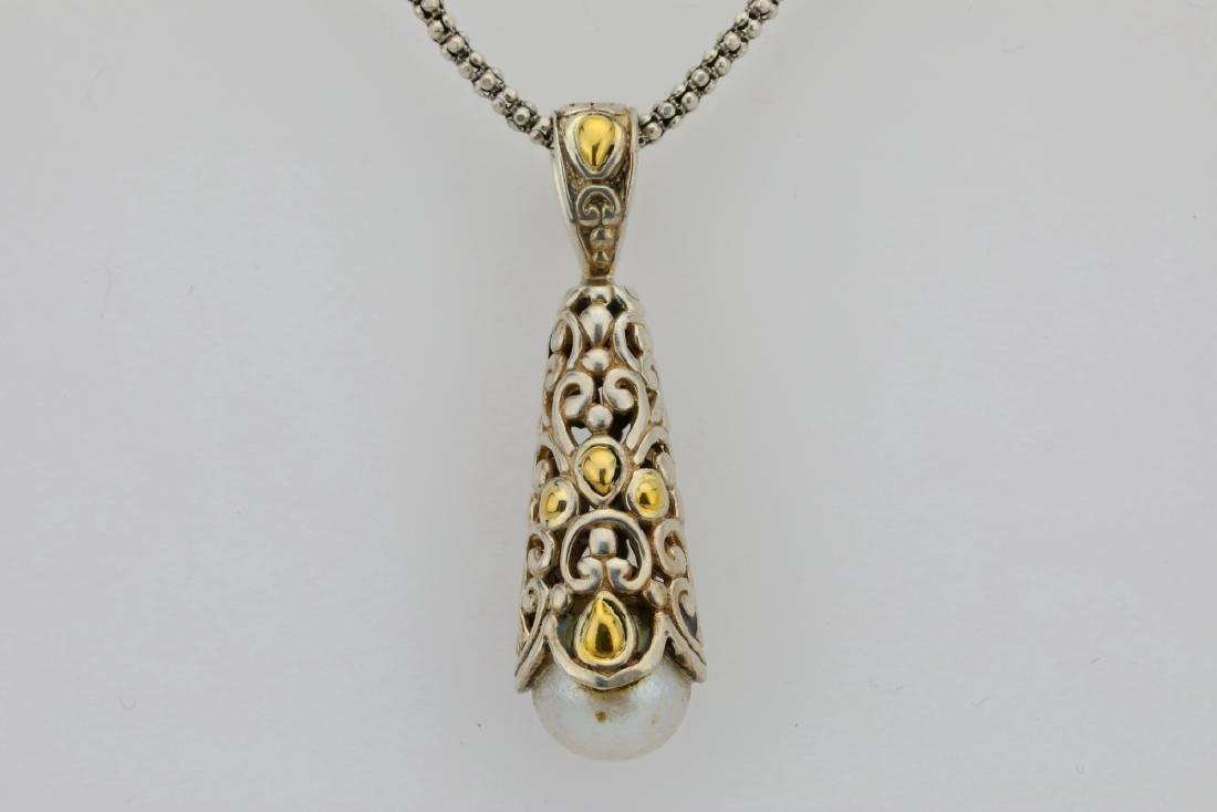 """Designer Sterling Silver & 18K 24"""" Necklace - 2"""