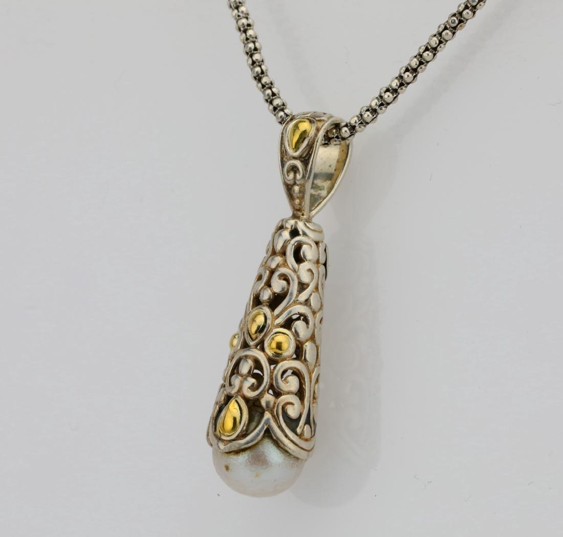 """Designer Sterling Silver & 18K 24"""" Necklace - 3"""