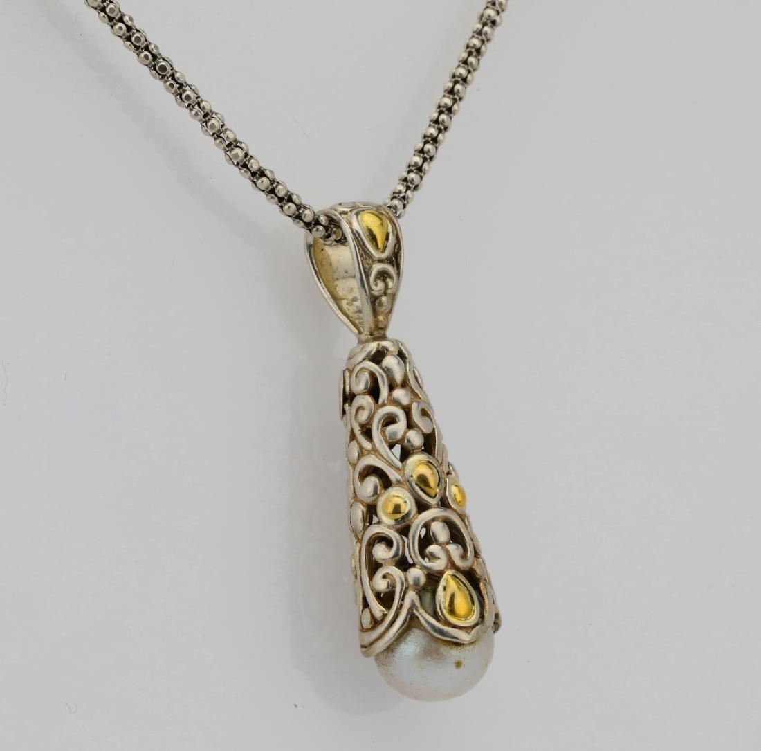 """Designer Sterling Silver & 18K 24"""" Necklace - 4"""
