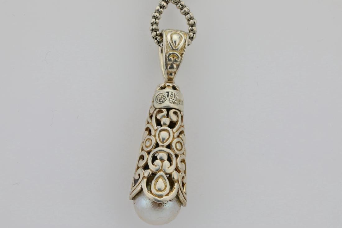 """Designer Sterling Silver & 18K 24"""" Necklace - 5"""