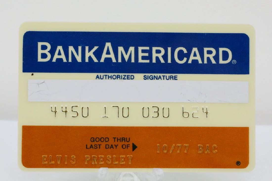 Elvis Presley's Personally Owned BankAmericard