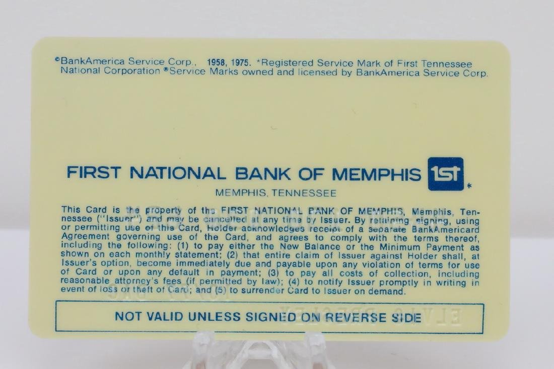 Elvis Presley's Personally Owned BankAmericard - 2