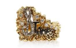 Elvis Presley 14K Stamps Ring Made For J.D. Sumner
