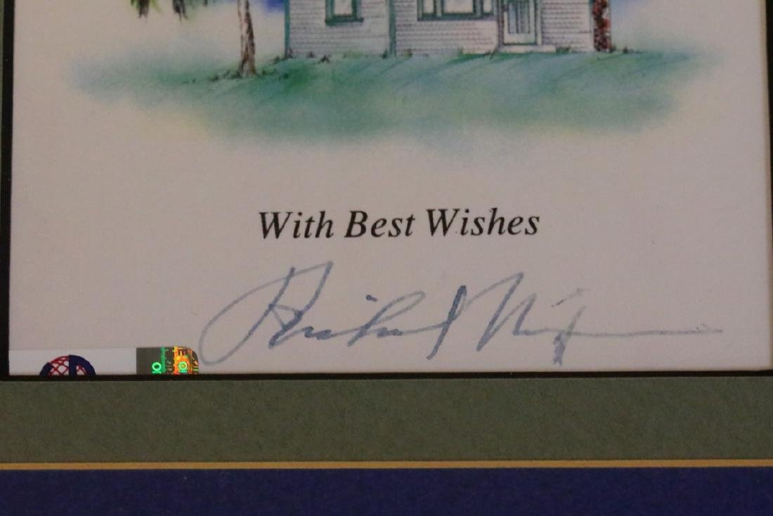 Richard Nixon Autograph in Framed Presentation - 3
