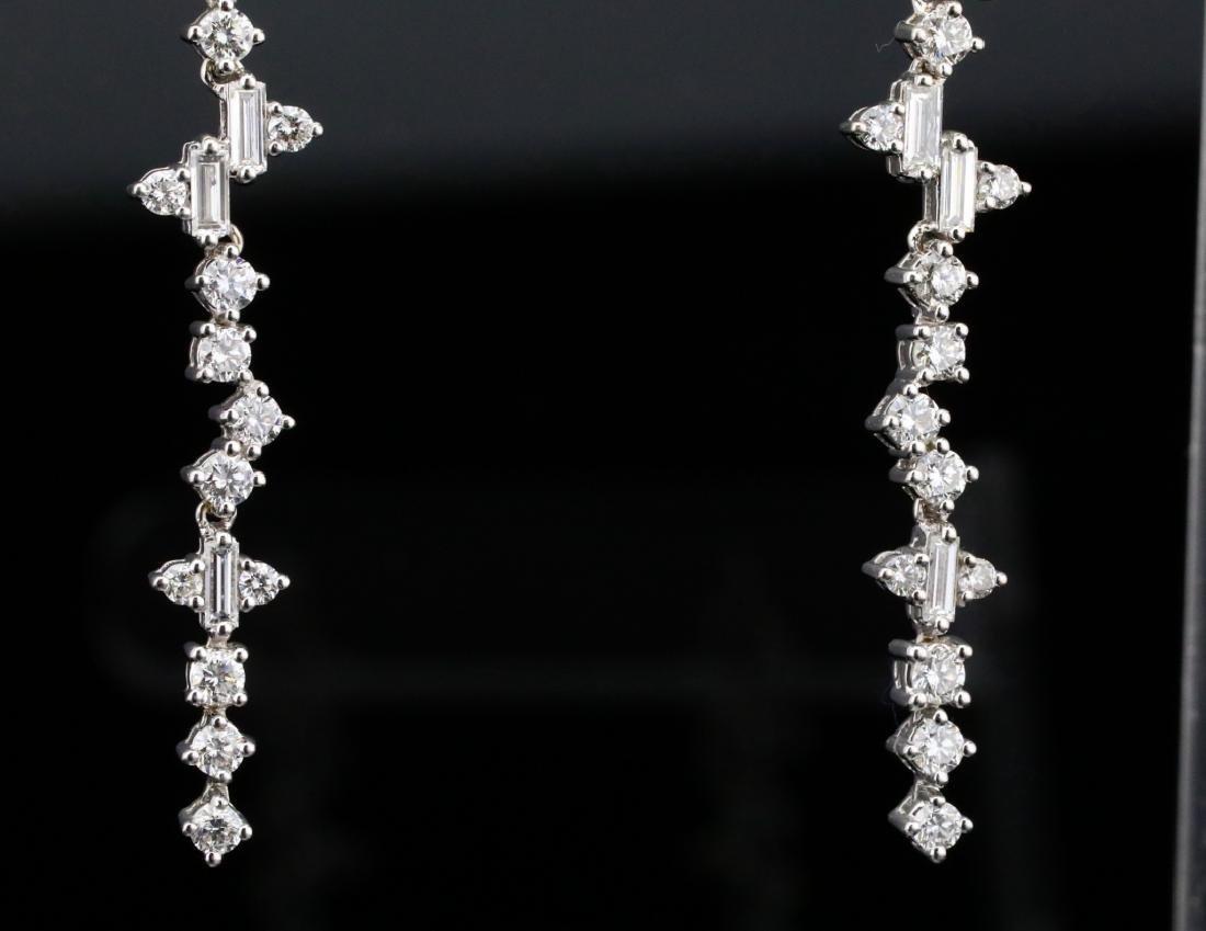 """3.90ctw VS1-VS2/G-H Diamond & 18K 2.5"""" Earrings - 3"""