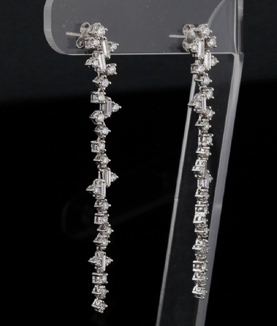"""3.90ctw VS1-VS2/G-H Diamond & 18K 2.5"""" Earrings - 5"""