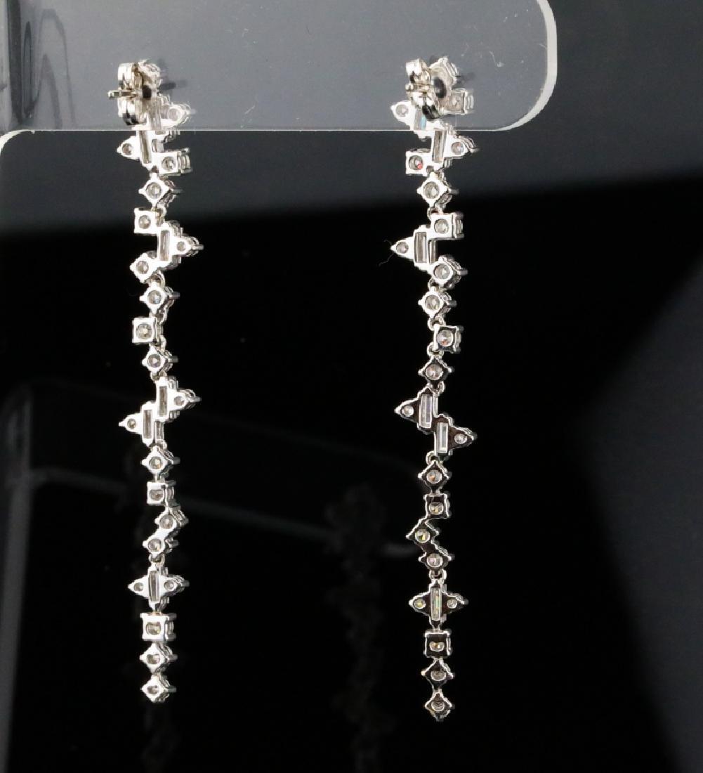 """3.90ctw VS1-VS2/G-H Diamond & 18K 2.5"""" Earrings - 6"""