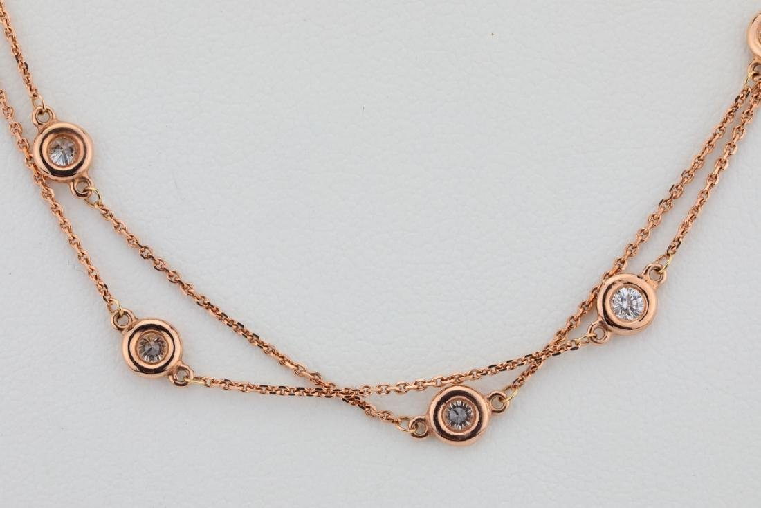 """2ctw SI1-SI2/G-H Diamond 14K 32"""" Sautoir Necklace - 2"""