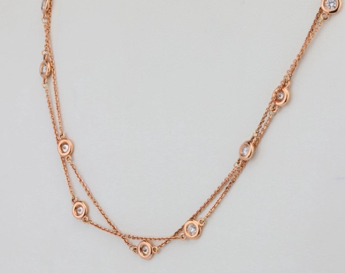 """2ctw SI1-SI2/G-H Diamond 14K 32"""" Sautoir Necklace - 3"""