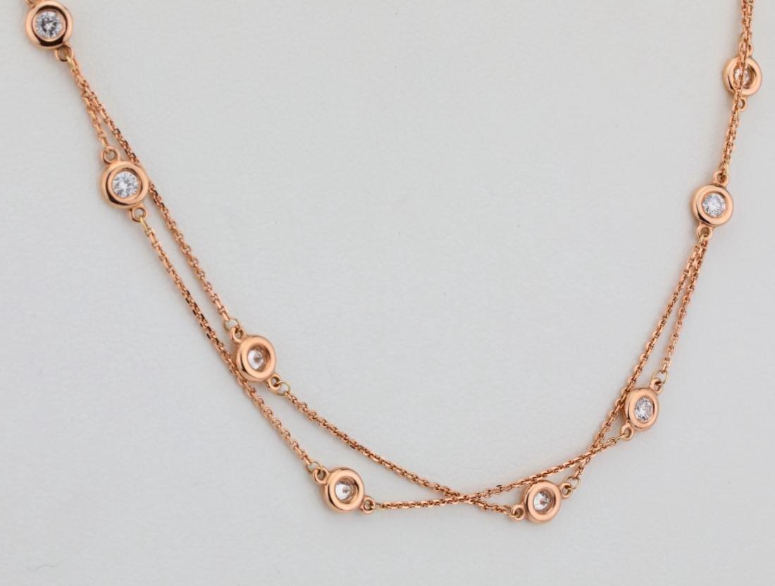 """2ctw SI1-SI2/G-H Diamond 14K 32"""" Sautoir Necklace - 4"""