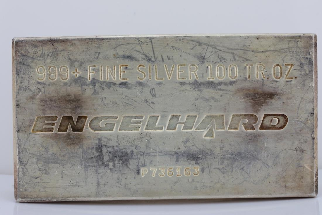 Engelhard 100 Troy Oz. 999+ Fine Silver Bar