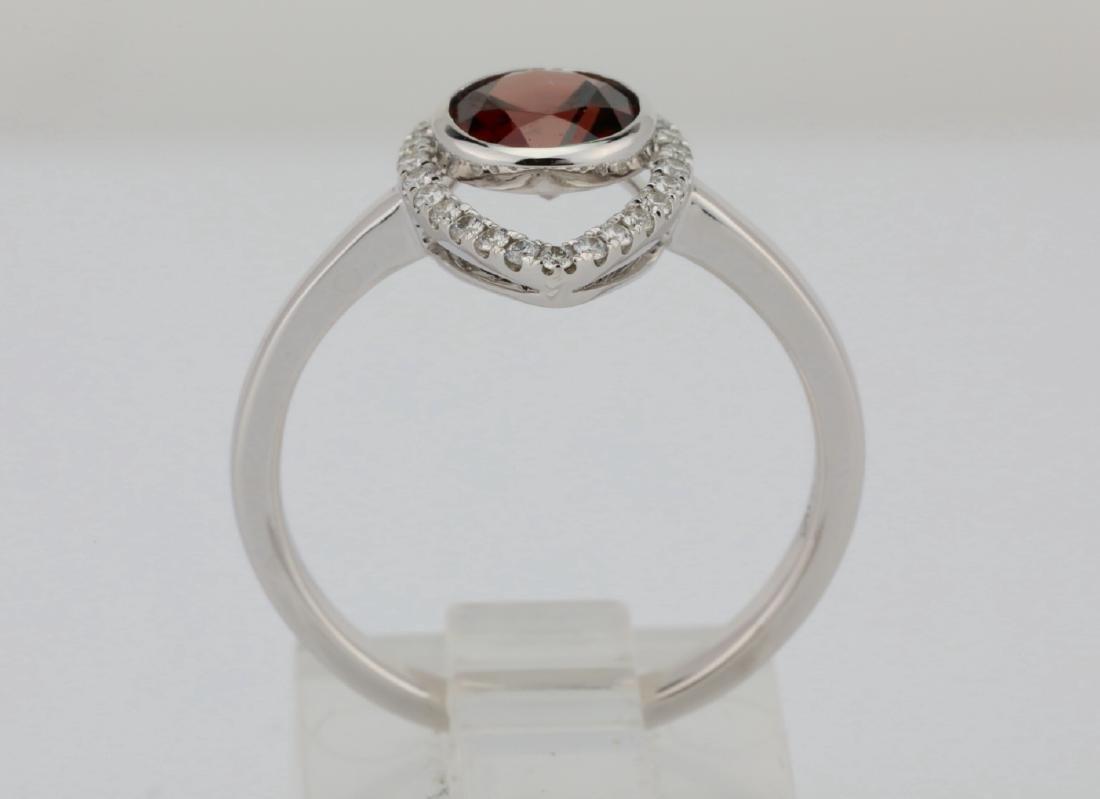 1.25ct Red Zircon & 14K Ring W/0.15ctw Diamonds - 5