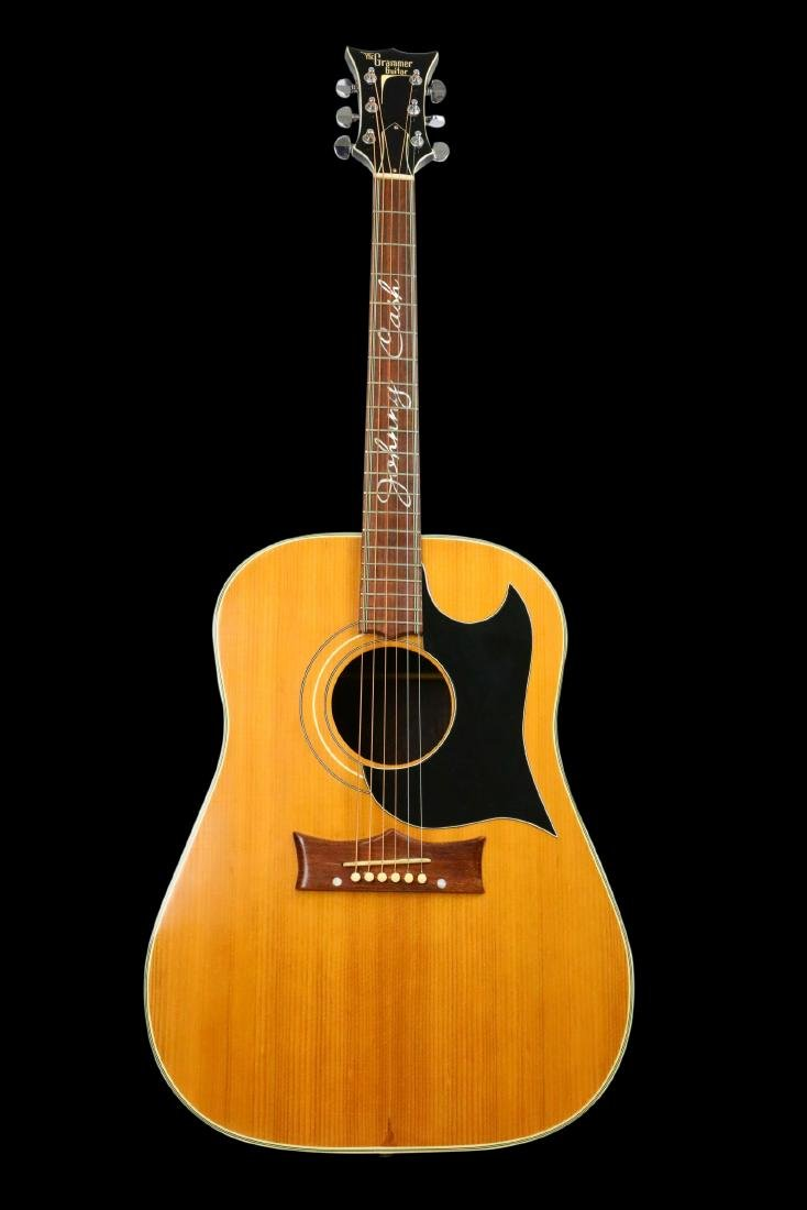 Johnny Cash's Prototype Grammer Guitar W/LOA - 2