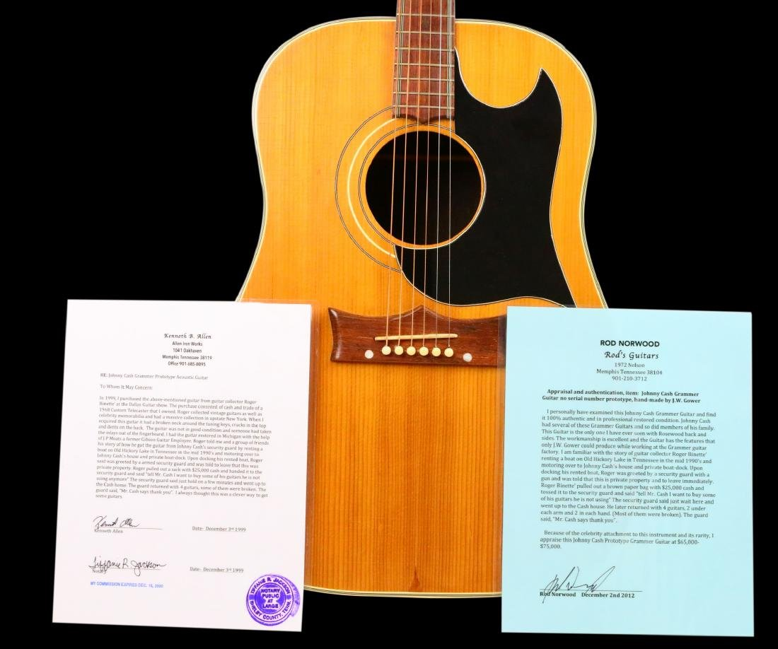Johnny Cash's Prototype Grammer Guitar W/LOA - 5