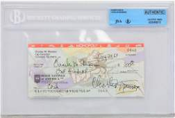 Charles Manson Signed Personal Check Dated Aug 22