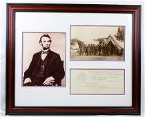 Abraham Lincoln Signed Document W/PSA DNA