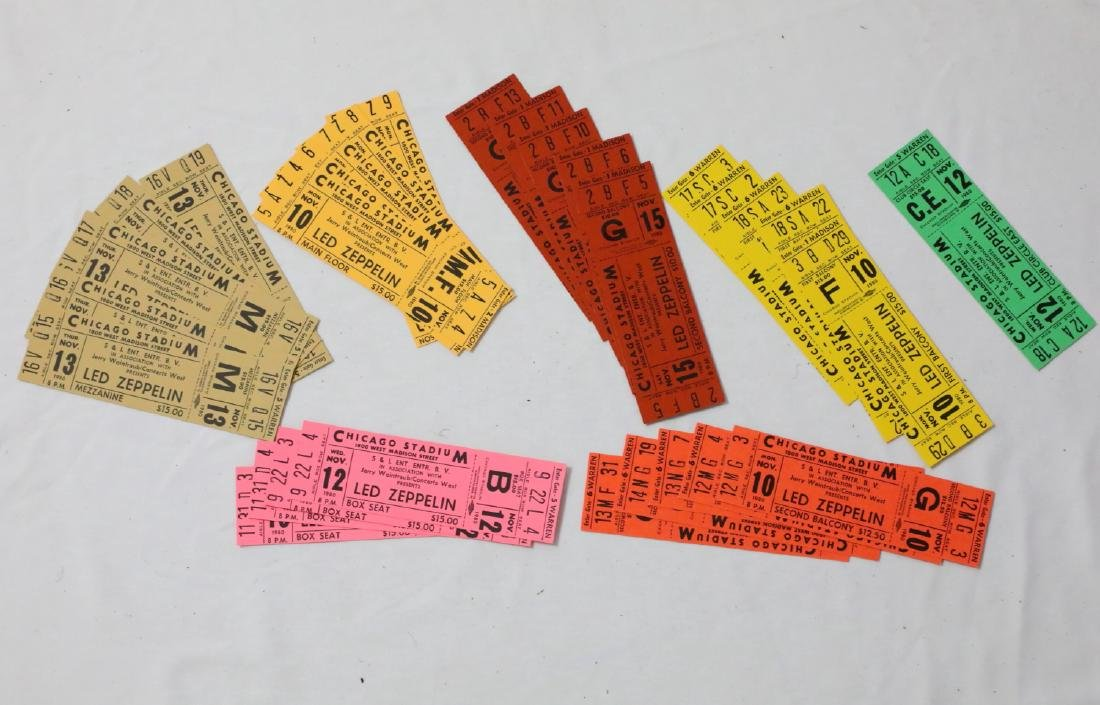 Led Zeppelin (30) Unused 1980 Concert Tickets & Posters - 4