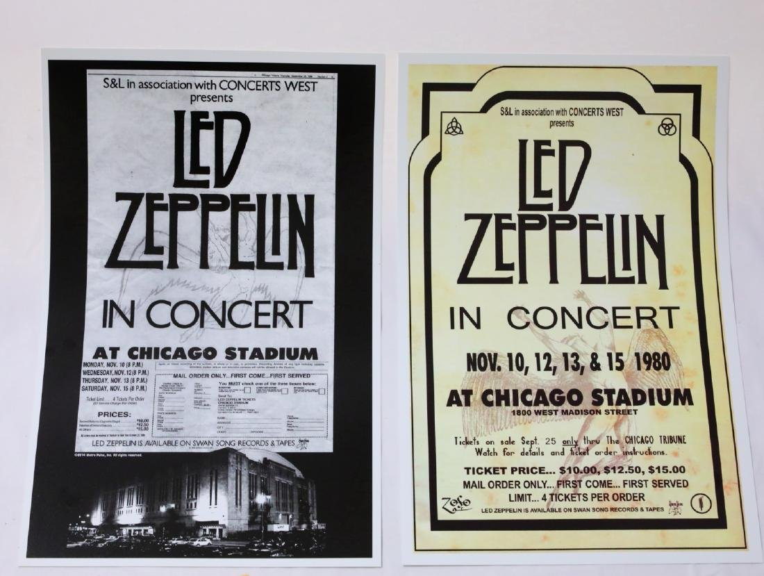 Led Zeppelin (30) Unused 1980 Concert Tickets & Posters - 5