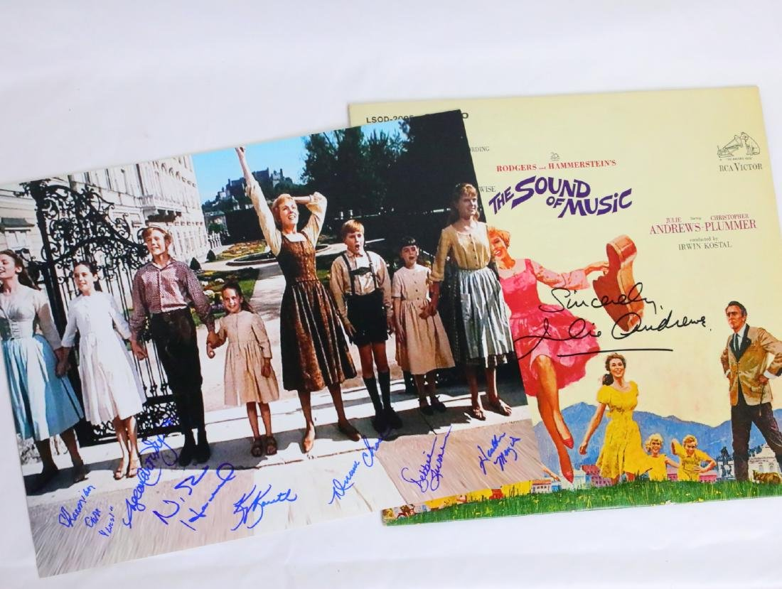 The Sound of Music Cast Signed Photograph & Album Cover