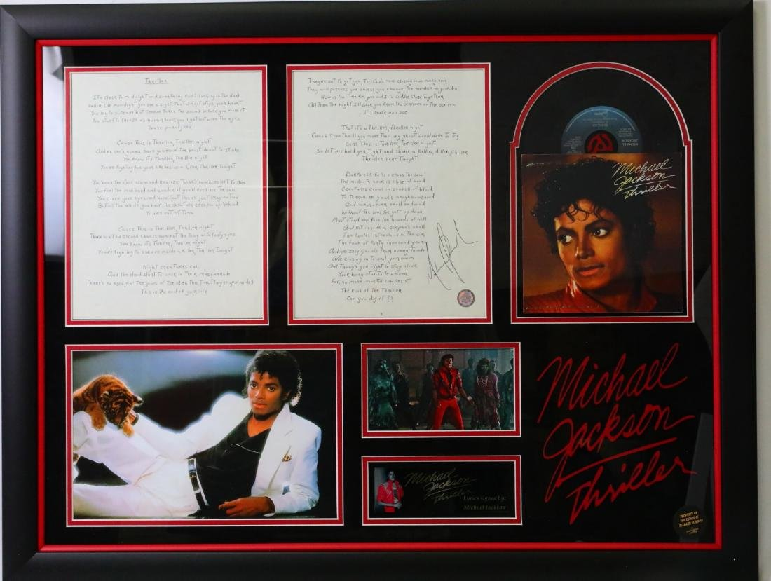Michael Jackson Handwritten Signed Lyrics for