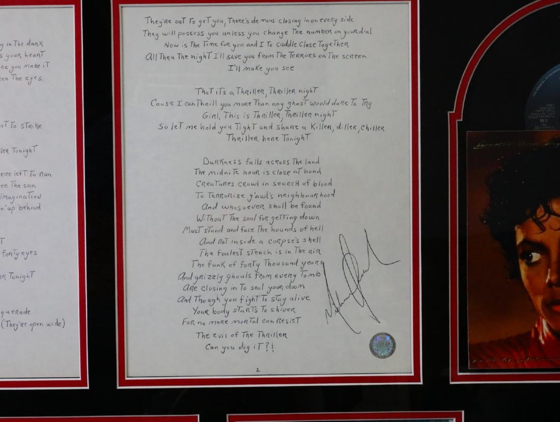 Michael Jackson Handwritten Signed Lyrics for - 4