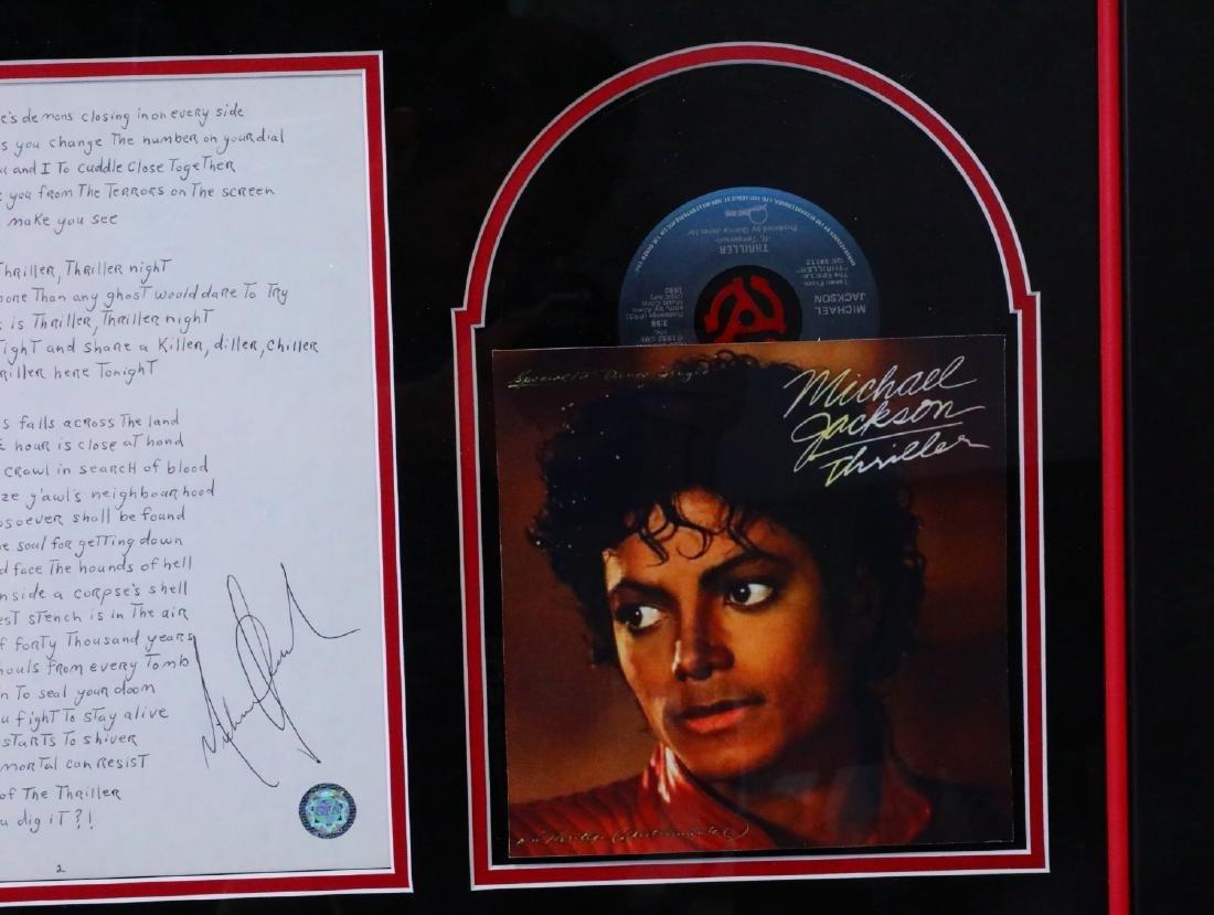 Michael Jackson Handwritten Signed Lyrics for - 6