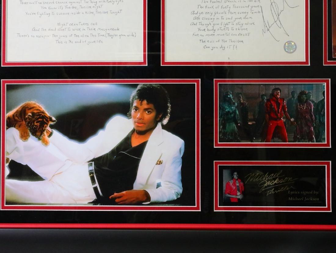 Michael Jackson Handwritten Signed Lyrics for - 7