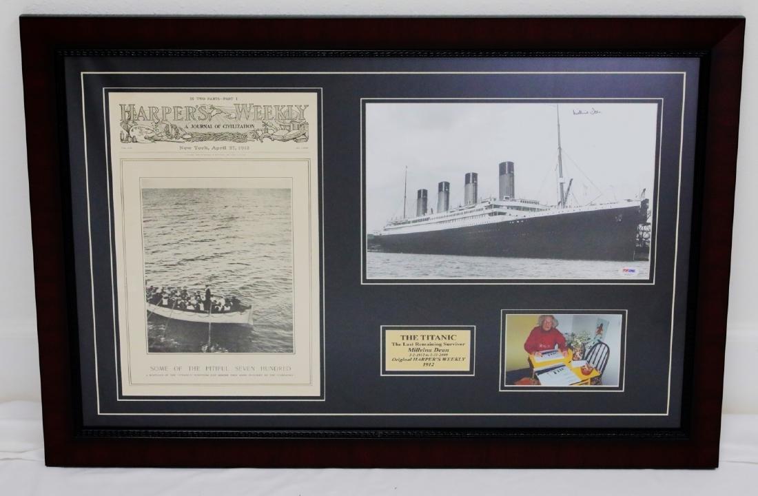 Titanic Last Survivor Millie Dean Signed Photograph