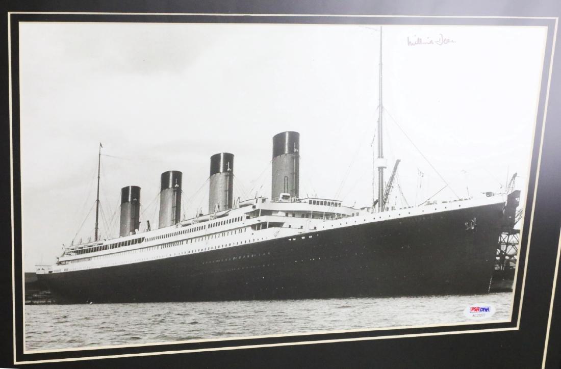 Titanic Last Survivor Millie Dean Signed Photograph - 2