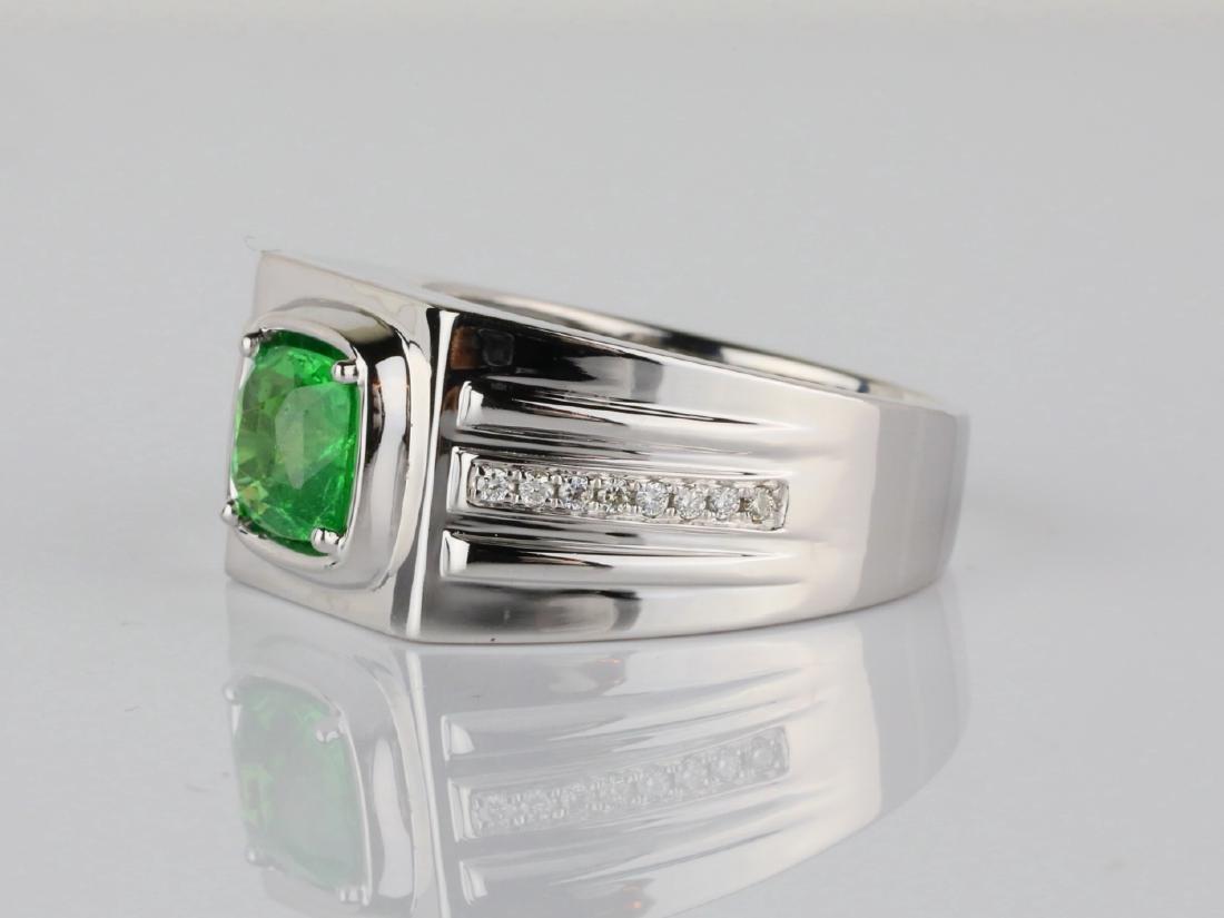 2.15ct Tsavorite Garnet & 14K Ring W/Diamonds - 2
