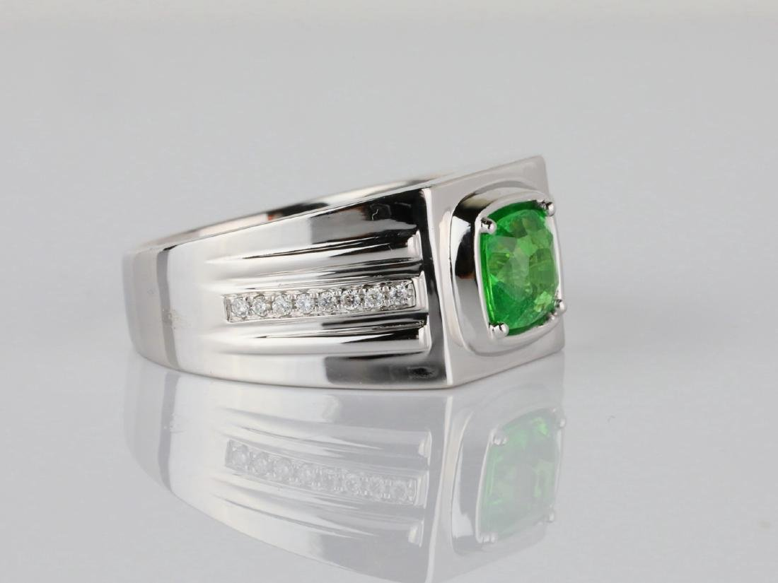 2.15ct Tsavorite Garnet & 14K Ring W/Diamonds - 3