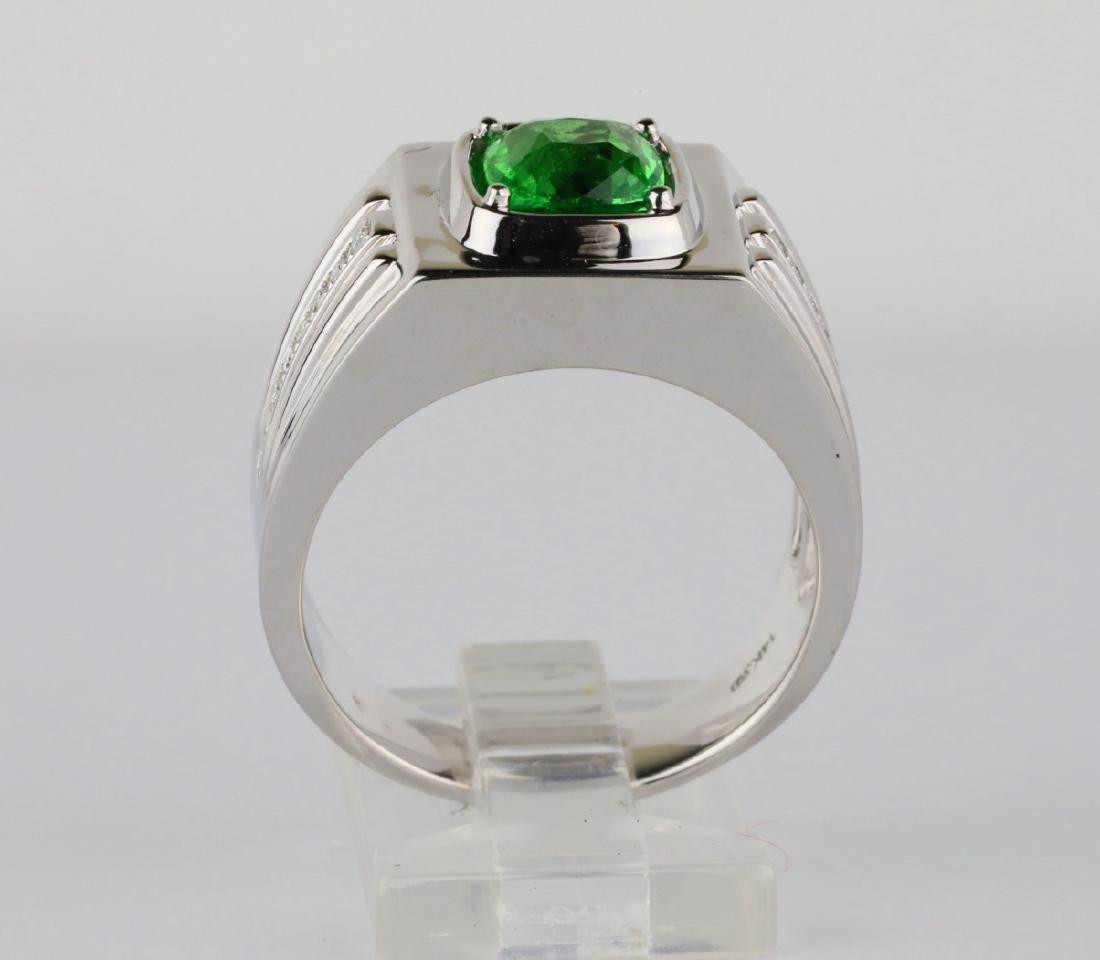 2.15ct Tsavorite Garnet & 14K Ring W/Diamonds - 5