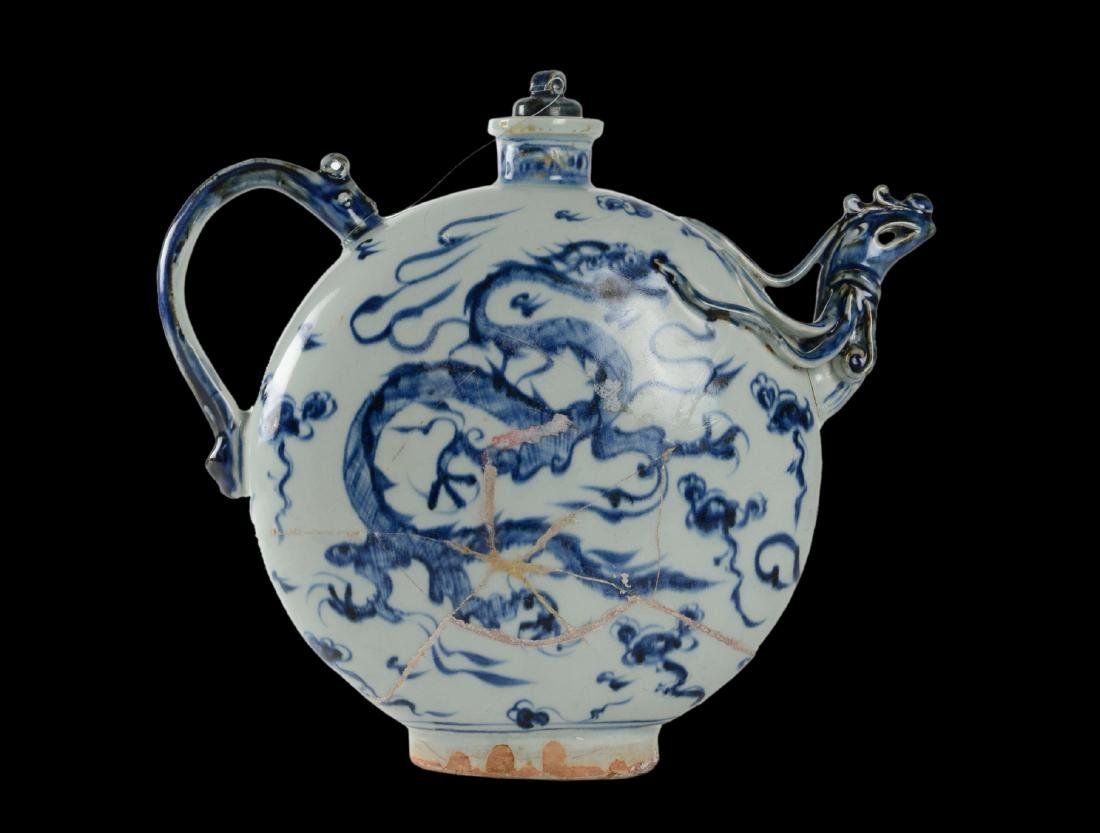 Qing Dynasty Porcelain Moon Flask From Vung Tau