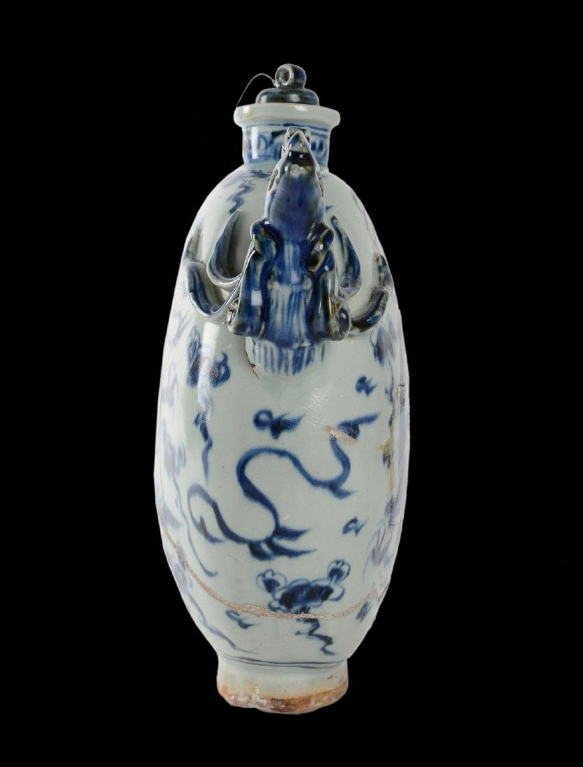 Qing Dynasty Porcelain Moon Flask From Vung Tau - 2