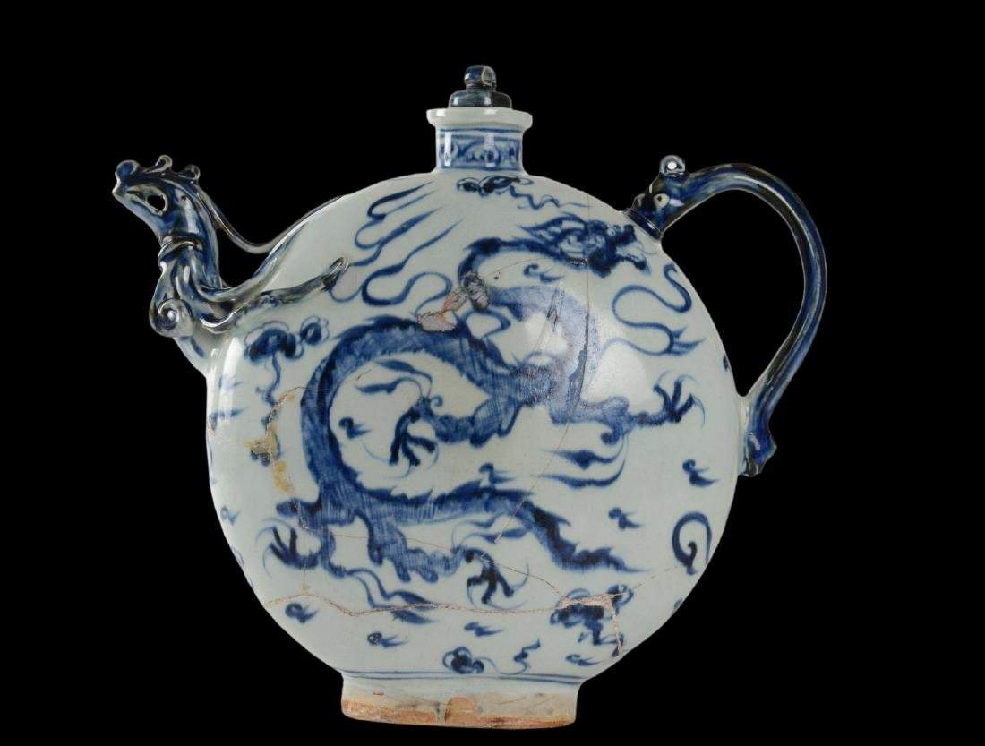 Qing Dynasty Porcelain Moon Flask From Vung Tau - 3