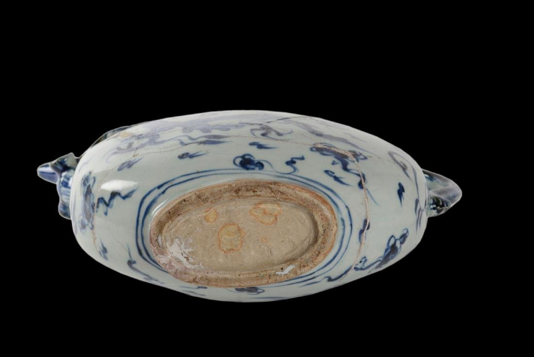 Qing Dynasty Porcelain Moon Flask From Vung Tau - 6
