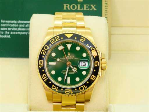 Rolex Gmt Master Ii 18k Watch W Anniversary Dial
